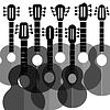 Векторный клипарт: Силуэты гитара