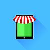 Векторный клипарт: Мобильная Иконка магазин
