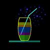 Векторный клипарт: бокал для коктейля