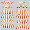 Векторный клипарт: Оранжевый Белый Палатки