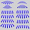 Векторный клипарт: Голубой Белый Палатки