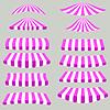 Векторный клипарт: Розовый Белый Палатки