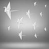 Векторный клипарт: бумаги птицы