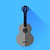 Векторный клипарт: Гитара силуэт