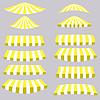 Векторный клипарт: Желтые Палатки