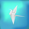 Векторный клипарт: Полет бумаги Птица