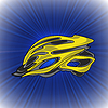 Векторный клипарт: Желтый велосипед шлем