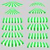 Векторный клипарт: Зеленые Белые Палатки