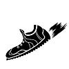 Векторный клипарт: Силуэт Ranning обувь
