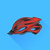 Векторный клипарт: Велосипед шлем