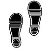 Векторный клипарт: Чистые обуви Отпечатки