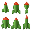 Векторный клипарт: Зеленые Бомб