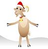 fröhlich Ziege in der Weihnachtsschutzkappe
