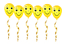 Векторный клипарт: веселые желтые воздушные шарики