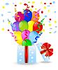 Векторный клипарт: подарочная коробка с яркими мрамора воздуха