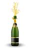 Векторный клипарт: открытая бутылка шампанского