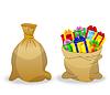 Векторный клипарт: два мешка с подарками