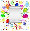 Векторный клипарт: лист скручены бумаги с яркими мрамора воздуха