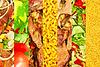 Apetyczny mięso i warzyw kolaż zdjęć | Stock Foto