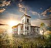 废弃的教堂 | 免版税照片