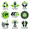 Векторный клипарт: Эко этикетки и набор символов