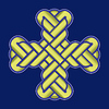 vector image of twisted Christian Holy cross
