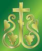 Vektor-Bild der Trauben Christian Heilig-Kreuz