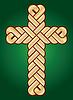 Vektor-Bild von Twisted Christian Heilig-Kreuz