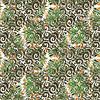 Векторный клипарт: Узорчатое кадр локонов