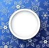 Векторный клипарт: Зимний праздничный фон синий со снежинками