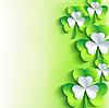 St. Patrick`s Day Card mit grauen, grünen Kleeblatt