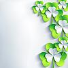 Stilvolle St. Patrick`s Day Card mit grau und grün