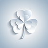 Schöne Patricks Tageskarte mit grauen Kleeblatt