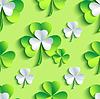 Hintergrund nahtlose Muster grün mit 3d Patrick