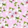 사쿠라 꽃과 함께 아름 다운 원활한 패턴 핑크 | Stock Vector Graphics
