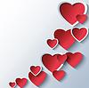 Modische abstrakte Hintergrund mit 3D stilisierte Herzen | Stock Vektrografik