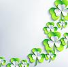 Trendy Hintergrund für Patrick Tag mit 3D-Blatt