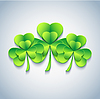 Stilvolle Patricks Tageskarte mit 3D-grünen Kleeblatt