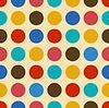 Vintage background nahtlose Muster mit Kreisen