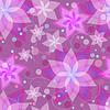 Векторный клипарт: Бесшовные шаблон с цветами лилии, круги и