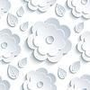 Векторный клипарт: Фон бесшовный узор с серыми цветами и