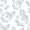 Векторный клипарт: Модные бесшовные узор с цветами и листьями