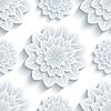Векторный клипарт: Фон бесшовный узор с 3d цветок