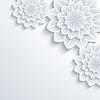 Векторный клипарт: Цветочные элегантный фон с 3d цветок