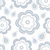 Patrón sin fisuras con las flores grises estilizadas y | Ilustración vectorial