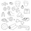 ID 4496233 | Set of fitness accessories. Dumbbells, exercise | Klipart wektorowy | KLIPARTO