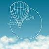 Ballon auf Hintergrund des bewölkten Himmel mit Platz für