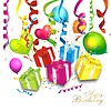 Colorful birthday background | Stock Vector Graphics