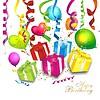Красочный фон день рождения | Векторный клипарт