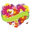 Kolorowe tło z kwiatów | Stock Vector Graphics